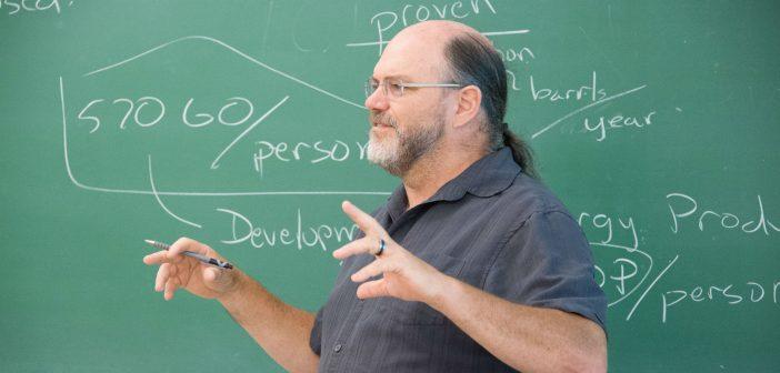 Prof. Durwin Striplin in classroom