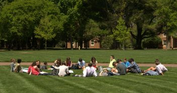 Outdoor classroom on Chambers lawn