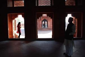 Fatehpur Sikri, a Muslim site, near Agra