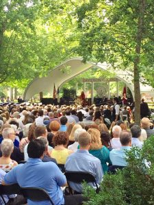 Crowd gathered for Davidson College Commencement ceremony