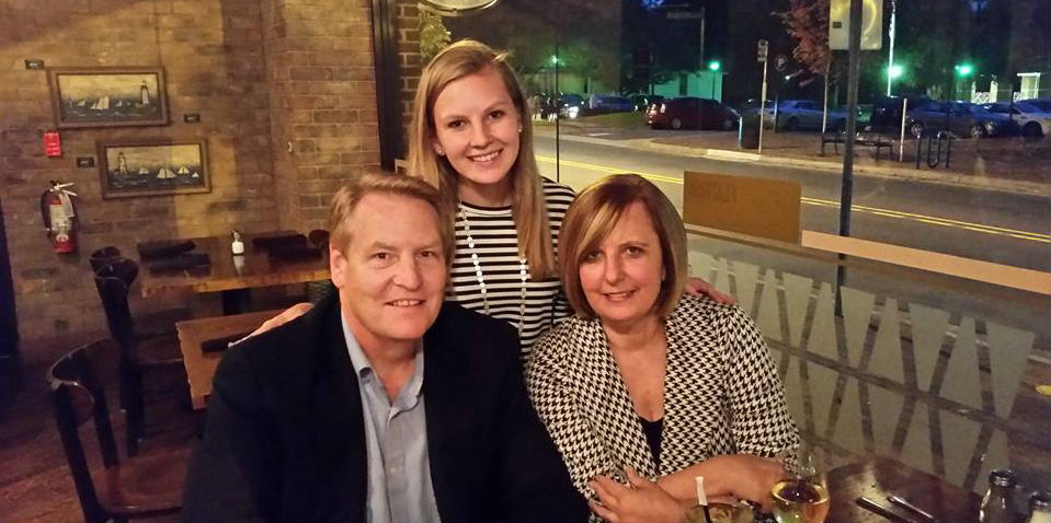 Savannah Haeger '16 with her parents