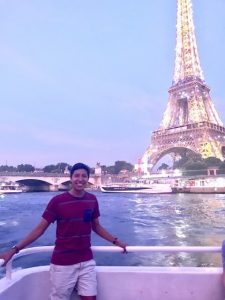 Tony Solis '19 in Paris
