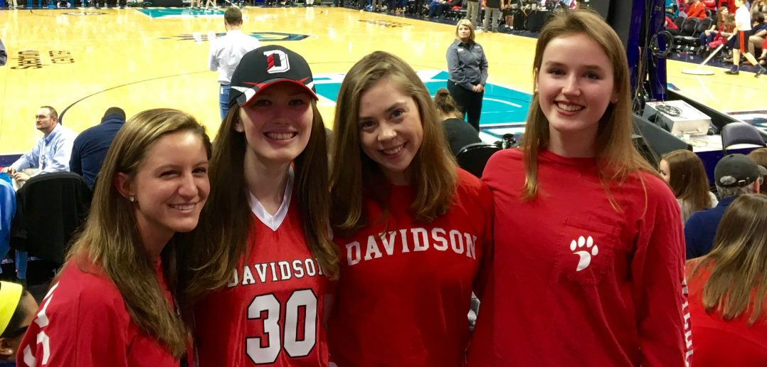 Allison Cowie '18 with Davidson classmates