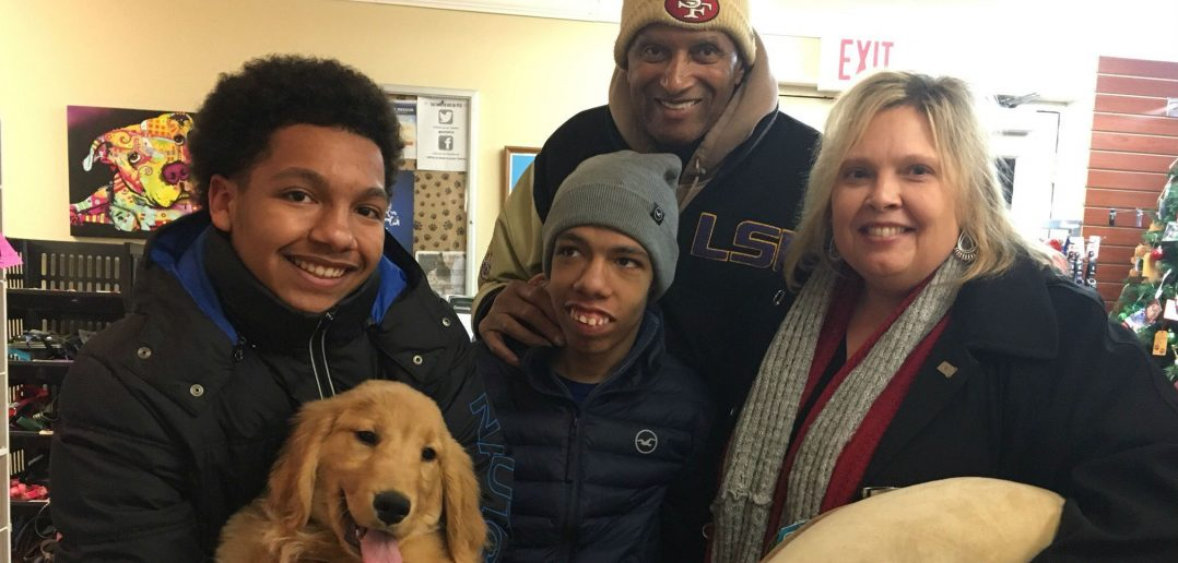 Brandon Harris '22 with his family